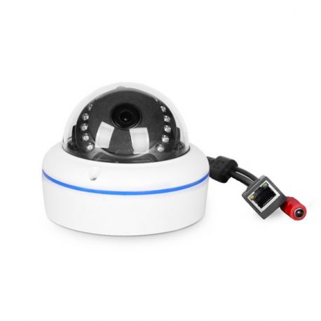 """Dome 3,1"""", IP Kamera HD 1280x720 med PoE, 2,8-12mm (18-70°), udendørs"""