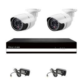 Kit 2: 2 udendørs HD IP kamera, 4 kanals NVR